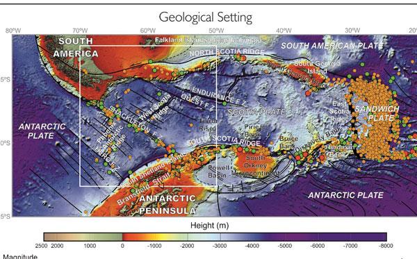 El nuevo mapa expresionista del tesoro antártico: la batimetría del Paso Drake